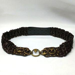 Vintage Stretchable Studded Leather  Belt XL